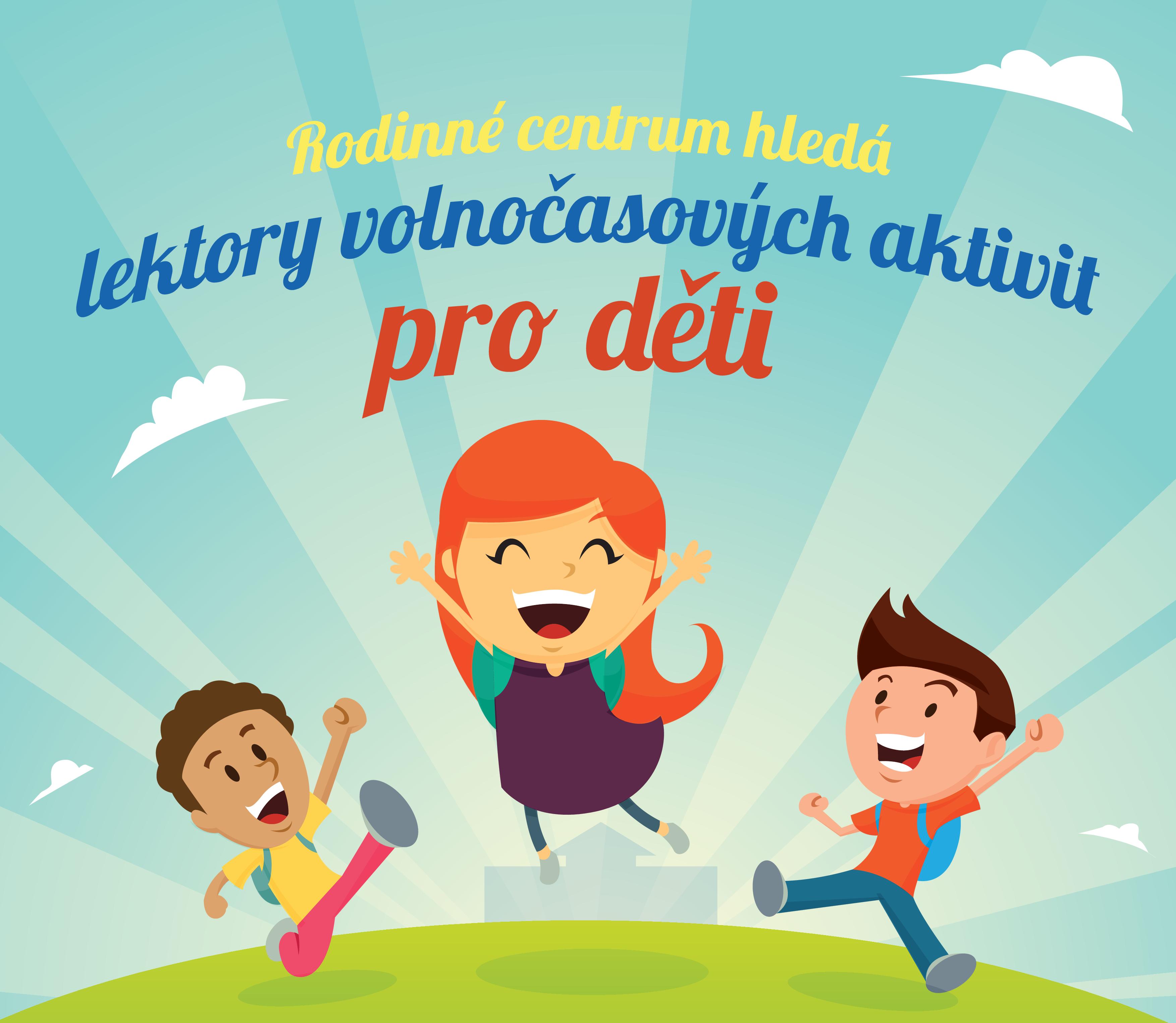 Centrum Ententyky hledá lektory volnočasových aktivit pro děti. Pro více informací klepněte na obrázek.